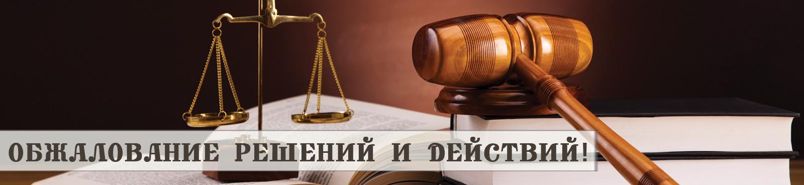 Юридические услуги по оспариванию решений и действий государственных органов и должностных лиц